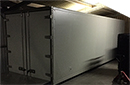 USED 26ft chillstore, supplied as temporary store only 6 months ago, customer building proper static coldstore. 2008 ex truck body, double rear doors with brand new mono-block fridge unit for dairy application at +3 Deg C, full alloy chequer plate floor, 