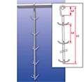 Ham hanger made of stainless steel, (Danish model)