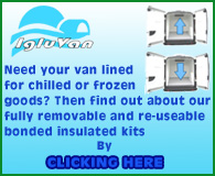 Need your van lined for chilled or frozen goods?  then find out about our fully removeable and re-useable bonded insulated kits by CLICKING HERE