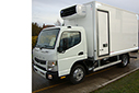 UNREGISTERED, Mitsubishi 7C15 Fuso, 7.5t GVW, duonic auto trip tronic, 3 seater cab, 3350 wheelbase, 4.2M body, internal dimensions 4000mm L x 2182 W x 2150 H, external body dimensions 4230 L x 2300 W x 2506, moveable mattress bulkhead for twin compartment operation with Thermostatic fan for dual temperature operation, Carrier Xarios 600 direct drive unit, triple rear doors, single side door 760 x 1900, CCI Transcan Temp recorder with printer.