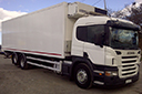 54 plate, Scania P310, 26t GVW, sleeper cab, 6x2, on air, 8 speed opti cruise gear box, Euro 3, 702000km, MOT November 2013, 30ft Gray and Adams body, Frigoblock unit, 3 phase standby, triple doors, 1.5 ton tuck away tail lift.