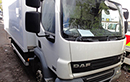 57 plate, DAF LF45.180, 12t GVW, Euro 4, 180bhp, 3 seater cab, 1 owner, FSH, 260925kms, MOT 31/11/2013,  17ft 8in body, Carrier Supra 550 diesel unit, 3-phase standby, 4 meat rails, hooks, Reg holmes meat loader, barn doors, non-slip floor.