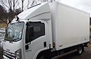 60 plate, Isuzu N75.190, 7.5t GVW, 75,000 miles, manual, MOT September 2013, SECOND LIFE (2005) Gray & Adams meat rail body - Internal height 2.1 M, Internal length 4M, four meat rails, 20 hooks, meat loader, Carrier Xarios 500 direct drive unit. has three phase standby which is not working, compressor gone. 2.7-2.8T payload.