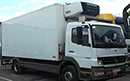 06 plate Mercedes Atego 1518 15t GVW, 3 seat, Solomon body with Carrier Supra 750 diesel unit, 3-phase standby, shutter door, nearside side door.