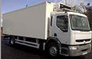 Y Reg, Renault Premium 220dci, 4x2, 18T GVW, 299000kms, 25ft meat rail body; four rails with hooks, Carrier Xarios 600 direct drive unit, three phase standby, barn doors, meat hoist, chequer plate floor.