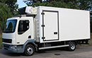 55 plate, DAF LF45.150, 7.5t GVW , 2 seats, LEZ, 460,000km, MOT 30/09/2017, 17ft Solomon body for 9 pallets, internal dimensions; 202in L x 88in W  x 87in H, Carrier Supra 550 diesel unit, 3 phase standby, chill and freeze to -30C, 2 lock load rails, triple rear doors, Pallet width nearside door, non-slip floor, folding step.