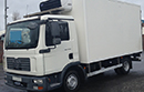 57 plate, MAN TGL.150, 7.5t GVW, 3 seats, 4x2, Euro 4, LEZ, 150bhp, 6 gear, auto, 1 owner from new, 505,000km, MOT October 2015, 15ft Solomon body, Carrier Xarios 500 unit, 3phase standby, in cab controls, triple doors, steps.