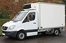 10 plate, Mercedes Sprinter 310, 3.5t GVW,  0.84t payload, 2.2 litre turbo diesel, 3 seats, 142,000 miles, MOT 19/05/2017, REEP body,  internal  dimensions 3100 L x 1880 W x 1930mm H, Carrier Xarios 500 diesel unit, 3-phase standby, chill or freeze to -18C, triple doors, non-slip floor, step.