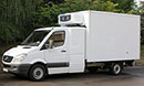 61 plate, Mercedes Sprinter 316 CDi, 3.5t GVW, LWB, sleeper, 2 seats, 2.2L turbo diesel, 265,000 miles, MOT 31/12/2016, Solomon body, space for 4 GKN pallets or 6 Euro pallets, Hubbard 520 AEL unit, single phase standby, chill or freeze to -25C or heat to +20C, Transcan in-cab temperature recorder, ATP Class FRC cert, barn doors, non-slip floor,  single bunk, fridge, microwave, electric sockets, auxillary battery for additional equipment,