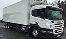 55 plate, Scania  P230, 18t GVW, 4x2, Euro3, sleeper cab, 2 seats, on air,  230bhp, 8 gears, 685000km, MOT October 2016, 1 owner from new, FSH, tyres over 60%, diff lock, air con, 28ft Gray and Adams body, movable bulkhead divider lanes, (this could be removed to make single compartment or moved to side. Thermo King Spectrum twin evap diesel unit,  3 phase standby, shutter door, 1.5 ton tuck-away tail lift, non-slip floor.