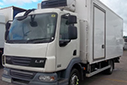 58 plate DAF FALF45.160, 11t GVW, Euro4, 160bhp, 326658km, MOT 31/10/2016, 326658km, 17ft 4in body,  Carrier unit, 3phase standby, barn doors, nearside side door, non-slip floor, curtains.
