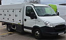 14 plate, Iveco Daily 35C13, Cold Car multi door body, outer dimensions, 3600mm L x 2040mm W x 1500mm H, insulation 100mm, 8 side doors 4 each side, 550mm W x 900mm H, box divided into 2 compartments, front compartment for chill (1+1), rear compartment for freezing -33C(3+3), dividing partions, Eutectic plates, fan circulation to chill, Dorin under slung fridge unit, 3phase standby, 4 inner lights, outside thermometer. front compartment 850mm, rear compartment 2450mm. capable of carring ice cream at very low temperature and multi drop deliveries. Chill in front