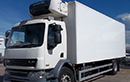 60 plate, DAF FALF55.220, 18t GVW, 2 seats, Euro5, 539,258km, MOT 01/04/2017,  220bhp, 25ft body, other dimensions 7ft 8in H x 8ft, Carrier Supra diesel unit, 3phase standby, freeze to -24C, barn doors, non-slip floor.