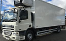 09 plate, DAF CF65.220 18t GVW, 2 seats, Euro4 4x2, on air, 220bhp, 6  gears, 425000km, MOT October 2016,  1 owner from new,,  tyres over 60%, 26ft Gray & Adams body, removeable divider lane, Carrier Supra diesel unit,  3phase standby,  multi temperature, shutter door, chequered plate floor, in cab controls, temperature printer,  1.5t  column  tail lift.