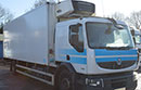 08 plate Renault 240 DXI 18t GVW, Solomon body, Carrier Supra 750 diesel unit, 3phase standby.
