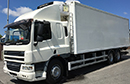 08 plate DAF 75.310, 26t GVW, sleeper, LEZ, Euro5, 6x2, on air, 2 seats, wind breaker, 310bhp, tyres over 70%, 2 owners from new, 8 gears, diff lock, 454,000km, MOT May 2017, 28ft Gray and Adams body,  Carrier Supra 950 diesel unit, 3phase standby, seperate diesel tank, in cab control, temperature printer, aluminium floor, 1.5 ton tuck-away tail lift.
