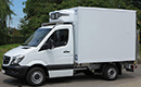 14 plate Mercedes Sprinter 316 CDi, 3.5t GVW, SWB, ATP, 3 seats, 2.2L, turbo diesel, 55,000 miles, MOT 18/07/2017, Solomon body, 4 pallet capacity, Hubbard 520 unit, Heat to +25C or chill or freeze to -25C, single phase standby, triple doors, Transcan temperature recorder, non-slip floor, Slim Jim 500kg tail-lift