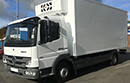 61 plate Mercedes 816 Atego, 7.5t GVW,  Euro5, 160bhp, 6gear, 2 seats, 135,000km, MOT October 2017, 1 owner from new,  tyres over 70%, electric windows/mirriors, 16ft body, barn doors, GAH Excalibur unit, road and 3phase standy, non-slip floor.