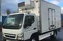 07 plate, Mitsubushi Canter Fuso 7c18, 7.5t GVW, Euro4, 180bhp, 6 gears, 3 seats, 570,000km, MOT April 2017, 1 owner from new,  tyres over 60%, air con, 14ft body, Thermo King unit, road and 3phase standby, barn door, nearside double side doors, chequer-plate floor, Cantilever tail lift.  Our price includes repatriation and registration on UK mainland.