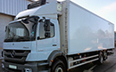 2011 Mercedes Axor 2533 , 337,000km, one owner from new, 29ft body, Carrier Supra 950 diesel unit,  3phase standby, 1500kg underslung tail lift. Choice of 2