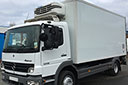 07 plate Mercedes Atego 1218 12t GVW, Euro4, 2 seats, 1owner from new, 180bhp, 4x2, 6 gears,tyres over 70%,  238000km, MOT October 2017,  electric windows electric mirriors,  20ft  RVL body, Hubbard unit, twin evaporators, road and 3phase standby, triple doors, non-slip floor, 1/3 tail/lift.