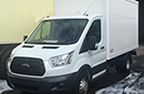 NEW Unregistered Ford Transit chassis cab 3.5t GVW, with NEW Gray & Adams freezer body, interior length - 3595mm,  width 1910mm  x height 1900mm, Priced with GAH SRF unit with standby but can have fridge unit of choice fitted at extra cost. Slide out rear step, 1 x length of load restraint on sidewalls. Rear barn doors