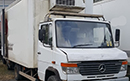 2000 - V reg. Mercedes Benz Vario 814D 7.5t GVW, Day cab, Thermo King V500 direct drive fridge unit, meat hanging T bar rails. one owner from new, FSH, MOT 28/2/2021. barn doors, Could retrofit meat loader for additional costs