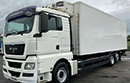 59 plate, MAN TGX 26 360, 26t GVW, sleeper, 360bhp, 6x2,  	889,979km, 5 I-beam meat rails with returns, hooks, Thermoking freezer unit, dis-symmetric doors, non-slip floor.
