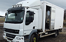 63 plate, Euro 5 DAF LF 45.210, 12 ton GVW, meat railer, Manual Gearbox, 310,000km, Tekbo body, barn doors, nearside side door, 4 rails and 2 x storage rails, some hooks, meat loader, steps, Carrier Xarios 600 freezer unit, driven off vehicle engine and 3 phase plug in standby. Full contract maintenance with DAF since new.