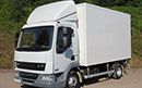 63 plate DAF 45.160, 7.5t GVW, Euro5, meat railers, 3 seats, 5 gear, TranScan, 3.5m wheelbase,  310,000/320,000km, MOT May/June, 13ft 4in (406cm) Long x 7ft 4in (218cm) High Solomon body, inner dimensions  9ft 9in (297cm) Long & 1 @ 4ft 9in (144cm) Long, Dhollandia Meat Hoist, 3 rails, 1 hook storage rail, barn doors, Carrier Xarios 500 unit, single evaporator, single phase standby. <br><br> Choice of 2 <br><br>