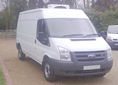 Ford Transit 350 LWB Medium roof,  Year of manufacture: 2006, very  LOW Mileage: 14,000 miles,  Chill 0C CONVERSION,  3.5t panel van,  Existing Rear Doors in use,  Side loader, · Hubbard 360AM,  As new Condition.