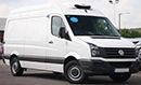 62 plate, VW Crafter CR35, 2.0TDi, MWB, 5000miles only - DEMO van, freezer conversion, moveable mattress bulkhead with fan kit for dual temperature operation chill/freeze (removable for single temp freeze or chill),GAH Super Rapier direct drive unit, single phase standby, aluminium chequer plate pallet protection strips to floor and wheel boxes, barn doors, nearside side door.