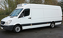 07 plate Mercedes Sprinter 318 CDI 2.9l Ex-LWB, high roof, sleeper, air con,  ATP, 180bhp, 418,000ms, MOT 02/07/2014, holds 3 GKN or 4 Euro pallets, Hubbard 460 AEL unit, single-phase standby, Chill  freeze to -25C, Heat to +20C, barn doors, night heater, comfort seat, universal loadlock rails.