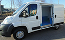 11 plate, Fiat Ducato, SWB, Chill only, 3 seats, 60,000m, side door.