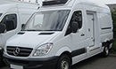 07 plate, Mercedes Sprinter 311, MWB, 129,988 miles, FSH, Internal dimensions 10ft 3in L x 5ft 11in H x 5ft 6in W, Carrier Xarios 350 unit, single phase standby, Barn doors, nearside slab side door.