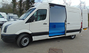 58 plate, Volkswagen Crafter, LWB, 195,000m, chiller conversion, standby, barn doors, nearside side door. smooth floor.