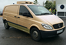 08 plate, Mercedes Vito 109 CDI Compact, 2.8T GVW, payload 1T, 3 seats, 75,000 miles, MOT Aug 15, GAH RC 218 unit, single phase standby,  hatch door, side door on both sides, non-slip floor.