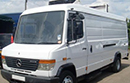 58 plate, Mercedes Vario 813D, LWB, high roof, 6 speed, 130bhp, ABS, PAS, C.D player, 3 seats, Euro 4, 1 owner from new, 361404 miles, MOT Aug 2015, Solomon conversion, Xarios 350 unit, Super Chill temperatures down to -10C, single phase standby, nearside side door.