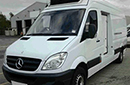 58 plate, Mercedes Sprinter 311 CDi, 3.5t GVW, LWB, 220,136 miles, MOT 15/10/2015, Solomon body, dimensions 13ft 4ins L x 5ft 4ins H x 6ft 10ins W, Thermo king V300 MAX unit, single phase standby, barn doors, nearside side door, non-slip floor.