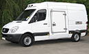 57 plate, Mercedes Sprinter 311 CDI, MWB, 3.5t GVW, 2.2l turbo diesel, 205,000 miles, MOT 01/10/2015, GAH Rapier unit, road and single phase standby, freeze to -21C, barn doors, plug nearside side door.