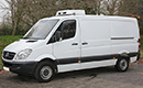 58 plate, Mercedes Sprinter 311 CDi, 3.5t  GVW, MWB, 2.2 litre turbo diesel, 175,000 miles,  MOT 18/09/2015, GAH Rapier unit, road and single phase standby, chill to  -1C, barn doors.