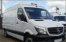 63 plate, Mercedes Sprinter 313CDi, MWB, 3.5t GVW, 25,191 miles, 3 seats, high roof, cruise control, 6 gears, BRAND NEW chiller conversion,  BRAND NEW GAH Arrow unit, road only, barn doors, nearside side door, non-slip floor, bluetooth radio, electric windows, central locking.
