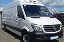 14 plate, Mercedes Sprinter 313CDi, LWB, 3.5t GVW, 18,760 miles, 3 seats, high roof, cruise control, 6 gears, BRAND NEW chiller conversion, BRAND NEW GAH Arrow unit, road only, barn doors, nearside side door, non-slip floor, bluetooth radio, electric windows, central locking.