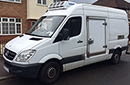 10 plate, Mercedes Sprinter 316 CDI 3.5t GVW, 2.2L TD, MWB, 142,000 miles, dual passenger seat, MOT March 2016, ATP Class FRC, removable bulkhead for dual compartment, 3 pallet capacity, Hubbard 460 AEL, slimline evaporator, Chill/freeze -25C, Heat to +25C, single phase standby, 12V trickle-charger, barn doors, plug nearside sidedoor,  chequer plate floor, Transcan temperature recorder, polar curtains at rear doors.