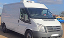 11 plate, Ford Transit 2.4 TDCI, LWB,  Hgh roof, 3 seats, 6 gears, ABS, power steering, 118,000 miles, MOT 17th June 2016, dual compartment, meat rail body, 2 meat rails, GAH unit, cab controls, freeze to -25c, Bulkhead, dual compartment, barn doors, nearside side door, non-slip floor, rear safe T-bar fitted, cd player.