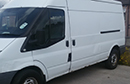 59 plate Ford Transit 2.4 T350, LWB, 3 seats, high roof, Euro4, ABS, 1 owner from new, 140,000 miles, MOT 23rd September 2015, Hubbard unit, barn doors, nearside side door.