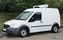 12 plate, Ford Connect T230, LWB, 2.34t GVW,, 0.74t payload, 2 seats,  116,000 miles, MOT 13/04/2016, Hubbard 390 AEL-12 unit, single phase standby, Chill or freeze to -25C or heat to +25C, 75mm insulated modular barn rear doors with rubber seals, Transcan temperature recorder, non-slip floor.