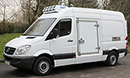 12 plate, Mercedes Sprinter 316 CDi, 3.5t GVW, MWB, high roof, 2.2L D, 105,000 miles, MOT March 2017, bulkhead available for dual compartment available, Hubbard 460 direct drive unit, single phase standby, chill/freeze -25C, barn doors, plug nearside  side door.