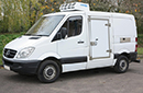 61 plate Mercedes Sprinter 316 CDI, 3.5t GVW SWB, 2.2 litre turbo diesel, ATP, 236,000, MOT 12/12/2016,Hubbard 460 AEL with slimline evaporator, Chill or freeze to -25C heat to +25C, single phase standby, 12V trickle-charger wired to electric standby, Barn doors, plug nearside side door with 180 degree opening, magnetic door stay, Chequer plate protection on floor & wheelarches, Transcan temperature recorder.