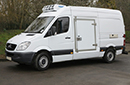 12 plate, Mercedes Sprinter 316 CDi, 3.5t GVW, MWB, ATP, 125,000 miles, MOT 26/06/2016, 3 pallet capacity, 2.2 litre turbo diesel, Hubbard 460 AEL with slimline evaporator, Chill or freeze to -25C Heat to +25C, single phase standby, Hubbard fridge contract available